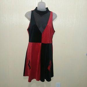 Harley Quinn (Batman brand) XL poly velvet dress